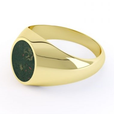 Yellow Gold Bloodstone Signet ring